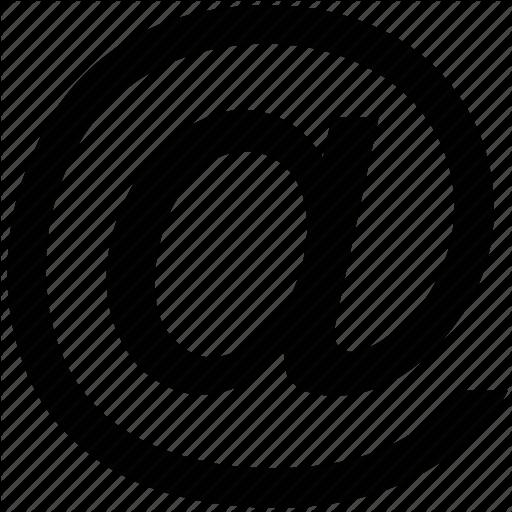 Email Address Icon White Free Icons