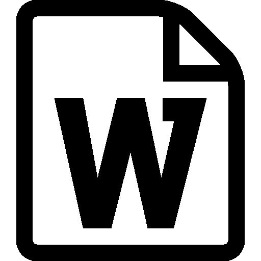 Word Symbol Icons Free Download