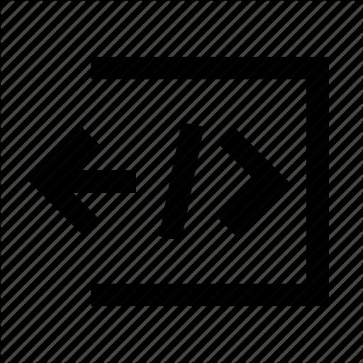 Code, Embed, Import, Method, Minicons Icon