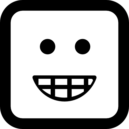Emoticon Smiling Square Face Icons Free Download