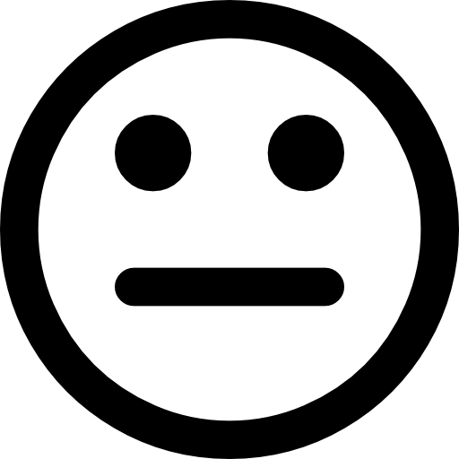 Meh Face Emoticon Icons Free Download