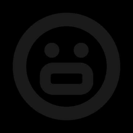 Emoji, Emojis, Emoticon, Nervous, Stroke, Teeth, Thick Lines Icon