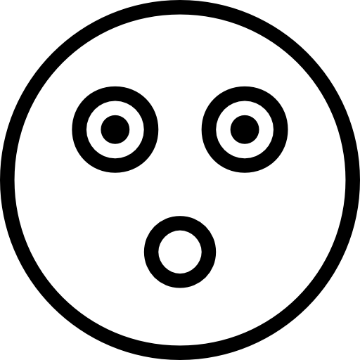 Flashed Emoji Face Outline Icons Free Download