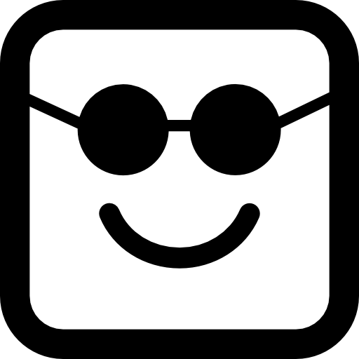 Emoticons Square Face With Sunglasses Icons Free Download