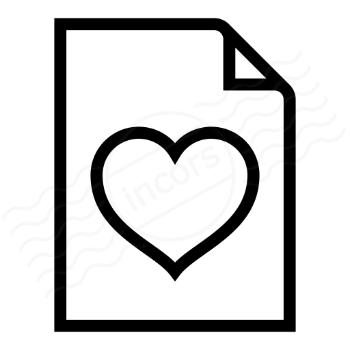 Iconexperience I Collection Document Heart Icon