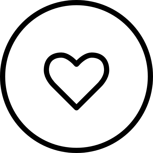 Like Heart Circular Outlined Button