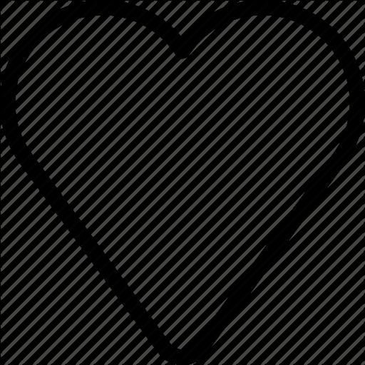 Empty, Favorite, Hearts, Like, Love Icon