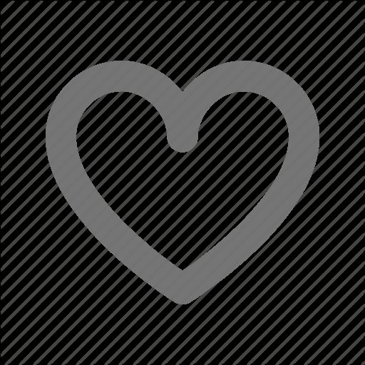 Empty, Heart, Like, Love, Plain, Romantic, Valentines Icon
