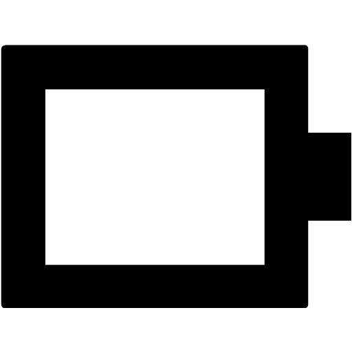 Black Battery Empty Icon