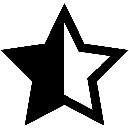 Half Colored Star Icons Free Download