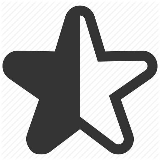 Empty, Half, Like, Rating, Star Icon