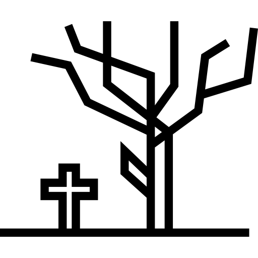 Halloween Tree And Tomb Cross