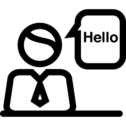 English Receptionist Icons Free Download