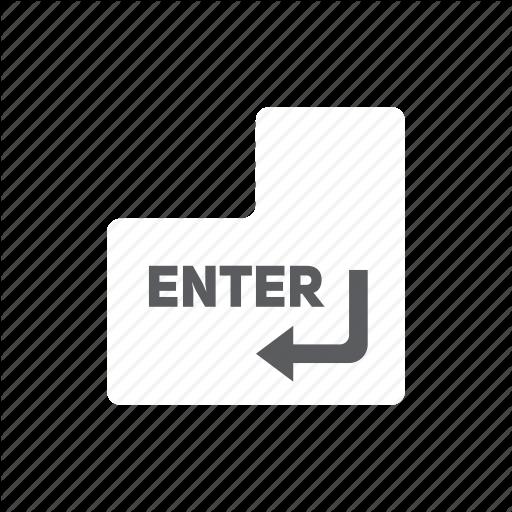 Enter, Key Icon