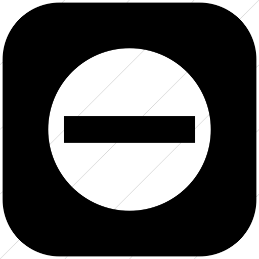 Flat Rounded Square White On Black Aiga No Entry Icon