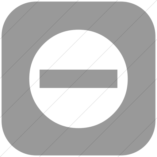 Flat Rounded Square White On Light Gray Classica No