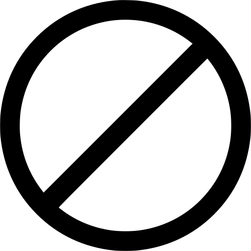 Gt Prohibition Business Entry Symbol