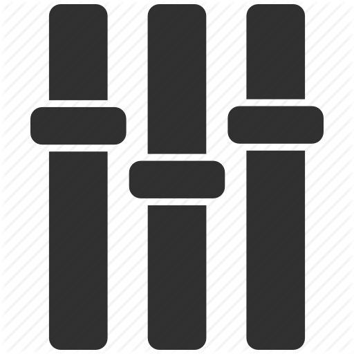 Adjustment, Audio, Equalizer Icon