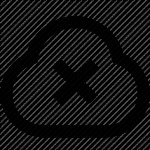 Alart, Close, Cloud, Error Icon