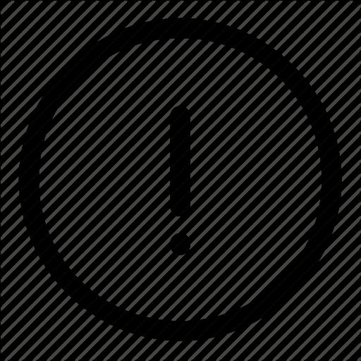 Attention, Error Icon