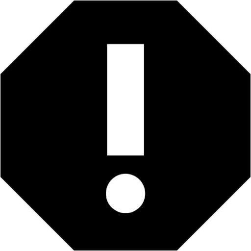 Black Error Icon
