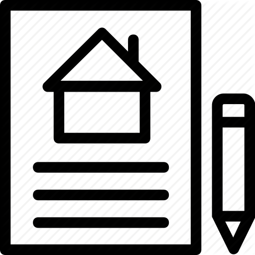 Deed, Estate, House, Legal, Owner, Paper, Pencil, Real Icon Icon