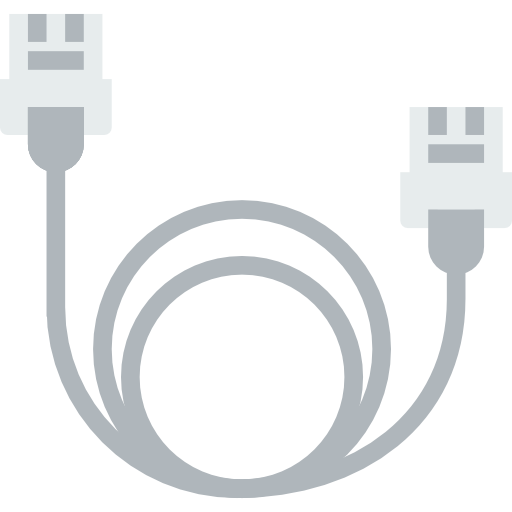 Ethernet, Cable, Connector Icon
