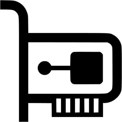 Black Network Card Icon