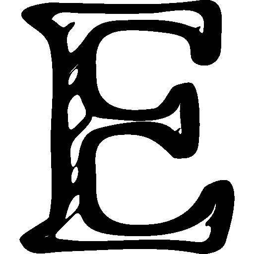 Etsy Sketched Social Letter Logo Outline Symbol