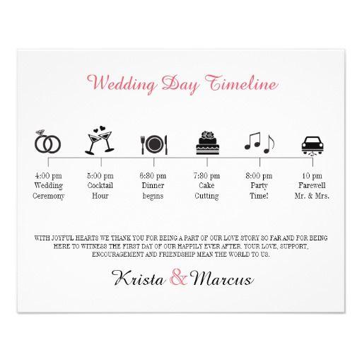 Icon Wedding Timeline Program In Icon Wedding