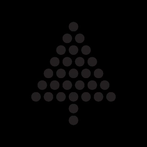 Dots Christmas Tree Icon Design Elements