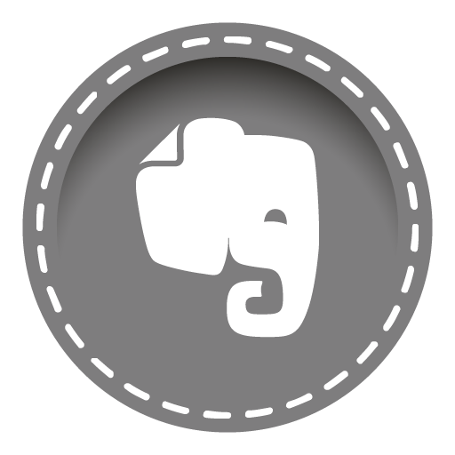 Evernote Icon Stitched Social Media Iconset Uiconstock