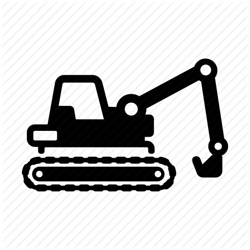 Build, Construction, Dig, Digger, Excavator, Lift, Vehicle Icon