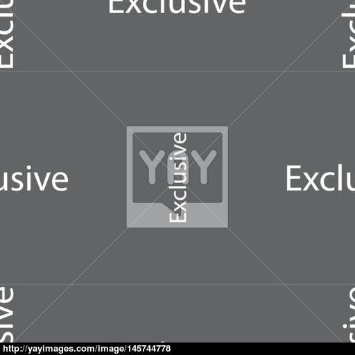 Exclusive Sign Icon Special Offer Symbol Seamless Pattern