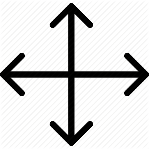 All, Arrow, Diagram, Direction, Expand, Move Icon