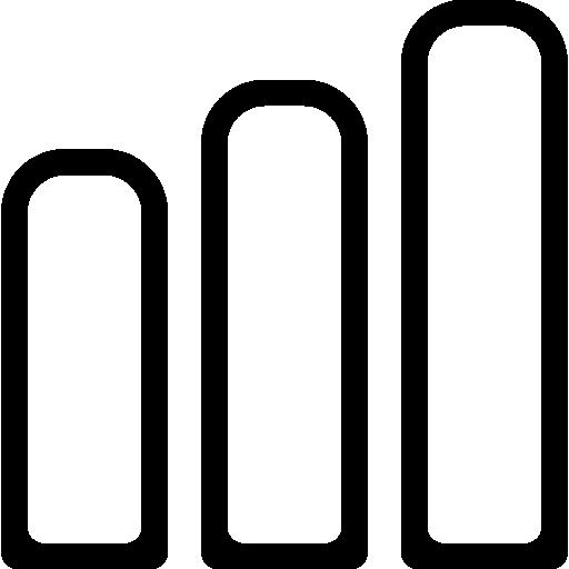 Signal Strength Bars Phone Interface Symbol