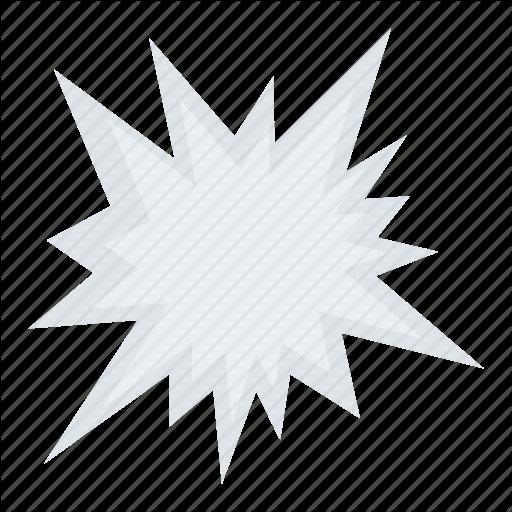 Accident Symbol, Blast Symbol, Explosion, Explosion Bubble