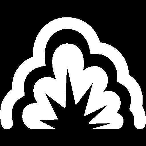 White Smoke Explosion Icon