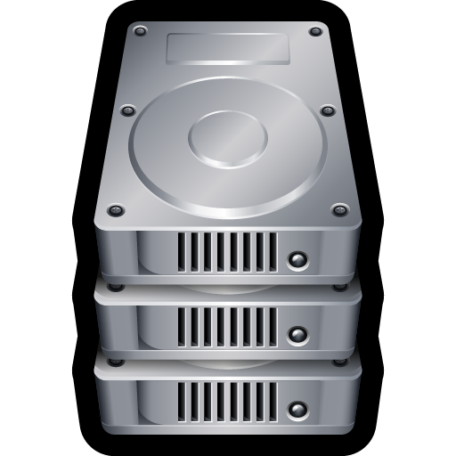 Device Hard Drive Stack Icon Hard Drive Iconset Hopstarter