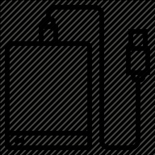 Disk, Drive, External, Hard, Storage Icon