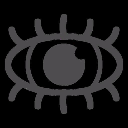 Human Eye Stroke Icon