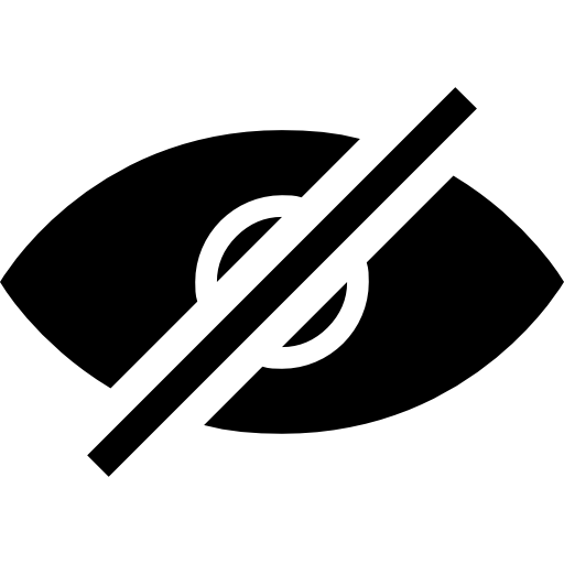 Eye Hidden Design Black Interface Symbol Icons Free Download