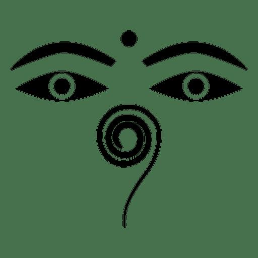 Buddhist Buddha Eyes Icon