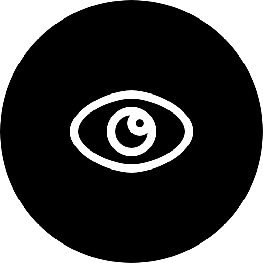 Visible Eye Symbol In Black Circular Button