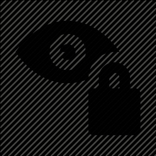Blocked, Eye, Lock, View, Visibility Icon