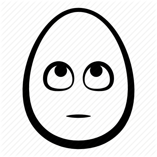 Easter, Egg, Emoji, Face, Head, Look Up, Rolling Eyes Icon