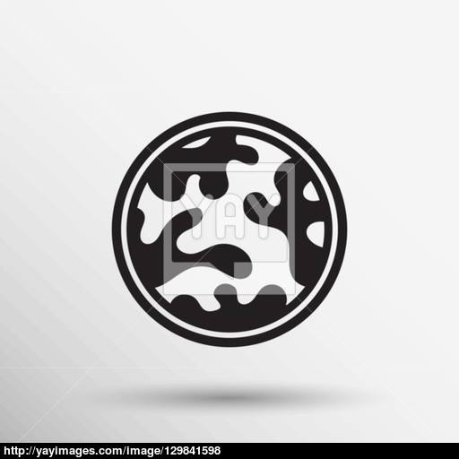 Camouflage Fabric Pattern Shape Badges Stickers Labels Icon Vector