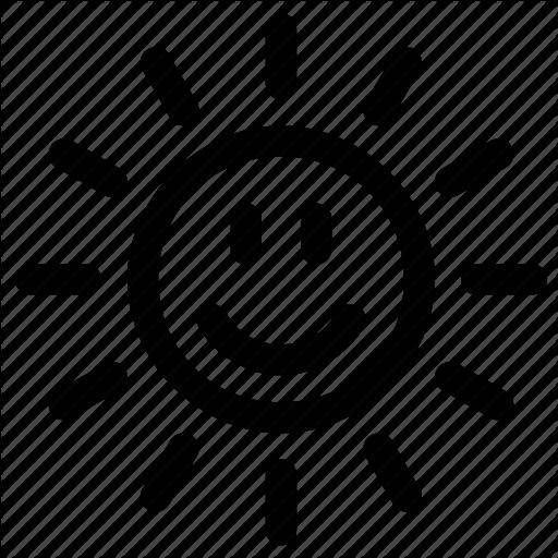 Happy Sun Face Icon
