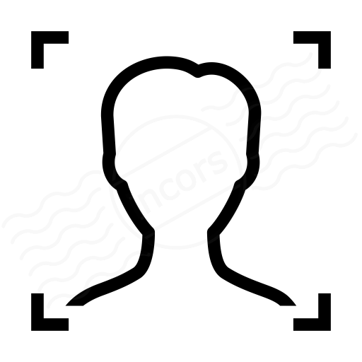 Iconexperience I Collection Face Scan Icon
