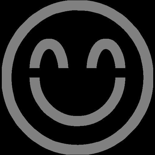Gray Emoticon Icon